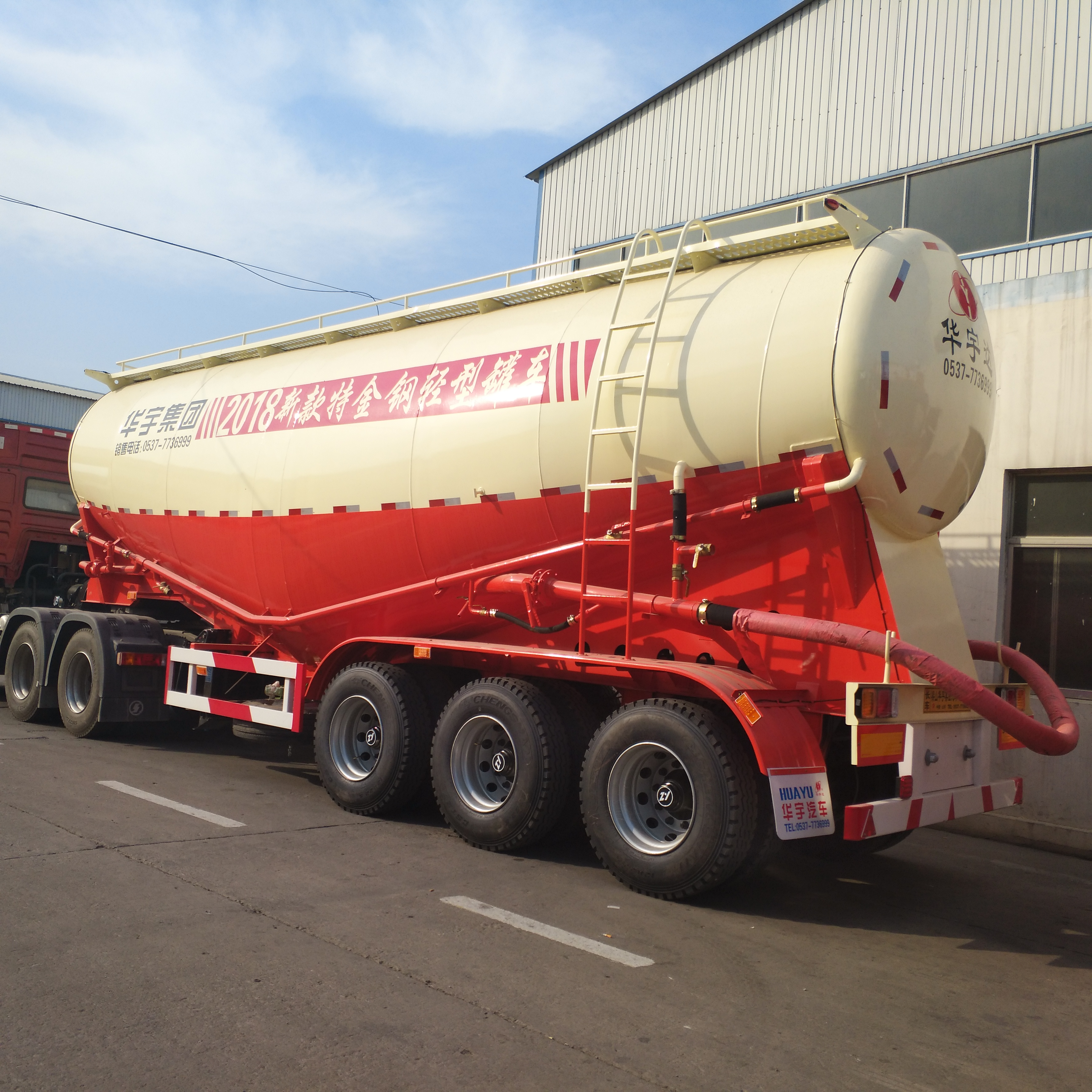 China 3 Axle Bulk Cement Tanker Trailer for Sale