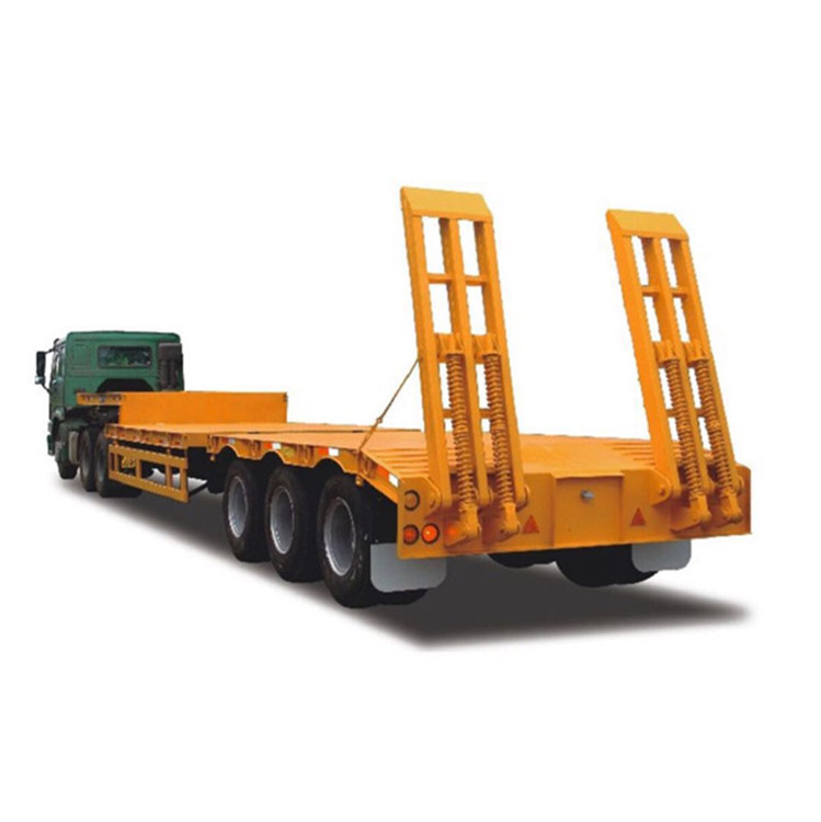 3 Axle Heavy Cargo Low Bed Trailer With Leaf Spring