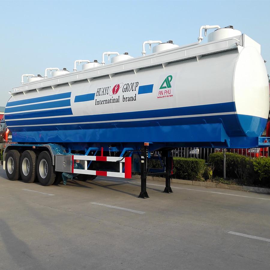 45cbm 6 Compartments Oil Tank Semi Trailer Fuel Tank Semi